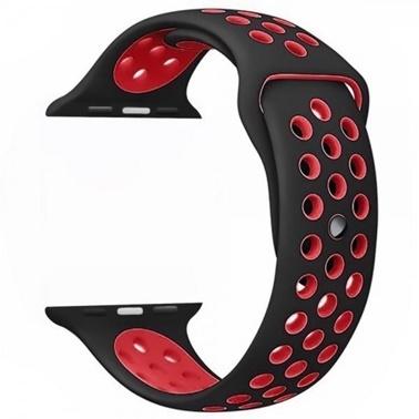 Lopard Watch 42mm KRD-02 Delikli Spor Silikon Kordon Kayış Siyah